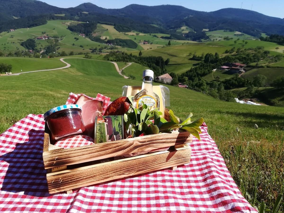 Picknick mit Ausblick auf der Augenblickrunde in Oberharmersbach
